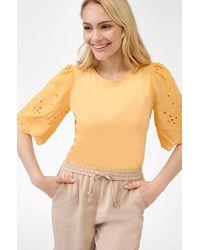 ORSAY Shirt mit Lochspitze - Orange