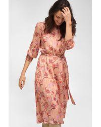 ORSAY Kleid mit Blumenmuster - Orange