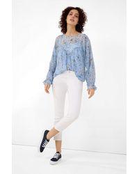 ORSAY Bluse mit Blumenmuster - Blau