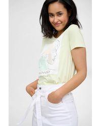 ORSAY T-Shirt mit Print - Gelb