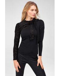 ORSAY Shirt mit Zierschleife - Schwarz
