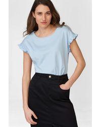 ORSAY Shirt mit Rüschen - Blau