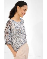 ORSAY Bluse mit Paisley-Muster - Natur
