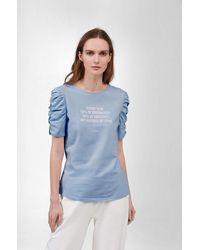 ORSAY Shirt mit Slogan - Blau