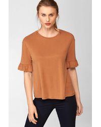 ORSAY Shirt mit Rüschen - Braun