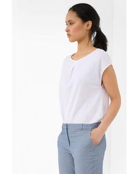 ORSAY Shirt mit Zierfalte - Weiß