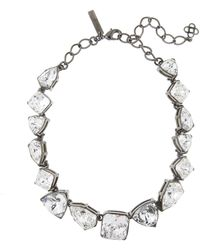 Oscar de la Renta Gallery Crystal Necklace - Multicolor