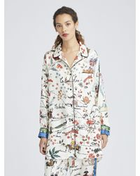 Oscar de la Renta - Silk Road King Twill Pyjama Trousers - Lyst