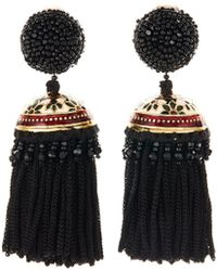 Oscar de la Renta - Mosaic Tassel Earrings - Lyst
