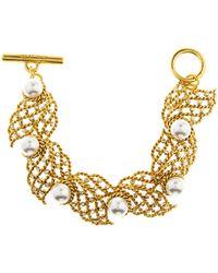 Oscar de la Renta - Pearl Net Bracelet - Lyst