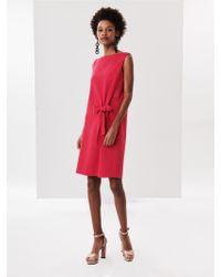 Oscar de la Renta - Raspberry Stretch-wool Crepe Dress - Lyst