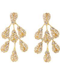 Oscar de la Renta - Vine Drop Crystal Earrings - Lyst