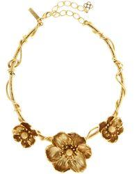 Oscar de la Renta - Poppy Flower Necklace - Lyst