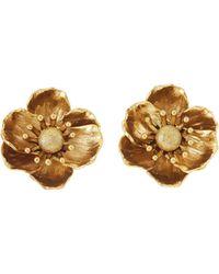 Oscar de la Renta - Poppy Flower Earrings - Lyst