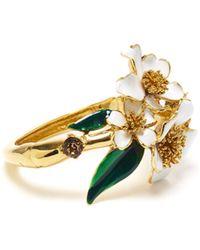 Oscar de la Renta - Delicate Flower Bracelet - Lyst
