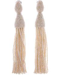 Oscar de la Renta - Classic Long Tassel Earrings - Lyst