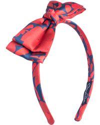 Oscar de la Renta - Brushstroke Fleur Bow Headband - Lyst