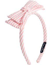 Oscar de la Renta - Seersucker Bow Headband - Lyst
