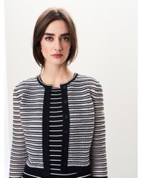 Oscar de la Renta - Embroidered Knit Cardigan - Lyst