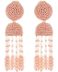 Oscar de la Renta - Short Tassel Earrings - Lyst