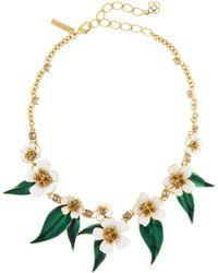 Oscar de la Renta - Delicate Flowers Necklace - Lyst