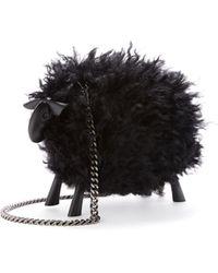 Oscar de la Renta Juice The Sheep Shearling Bag - Black