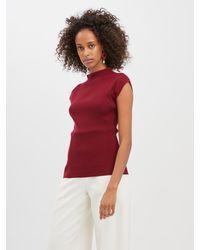 Oscar de la Renta Wool Pullover - Red