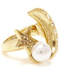 Oscar de la Renta - Moon And Stars Ring - Lyst