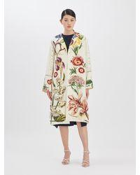 Oscar de la Renta Floral Calligraphy Coat - Multicolor