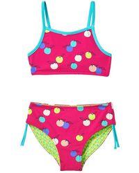 White Stuff Fruit Spot Reversible Bikini Multi Green - Pink