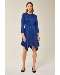 IVY & OAK Open Back Dress Mini Indigo - Blue