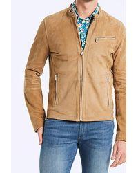 IKKS Light Brown Leather Jacket