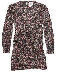 Zoe Karssen Vicky Wrap Belt Dress Pink Leopard - Multicolour