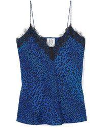 Zoe Karssen Sanne Leopard Singlet Blue Leopard