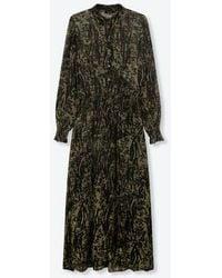 Alix The Label Ladies Woven Animal Maxi Dress Dark Olive - Green