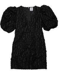 Zoe Karssen Robyn Puff Sleeve Black Leopard Mini Dress Black Leopard