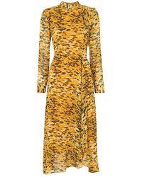 Whistles Ines Ikat Animal Dress Yellow/multi