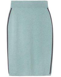 Sandwich Skirt Knitted Medium Granite Green Htr