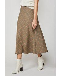 summum woman Skirt Check Chocolate - Brown