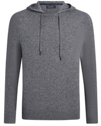 NAADAM Crewneck With Hood Pullover Granite Nep - Gray