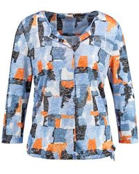 Gerry Weber 3/4-sleeve Top With Art Camouflage Blue