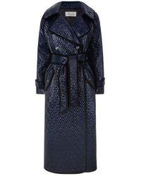 Temperley London Vera Coat Navy - Blue