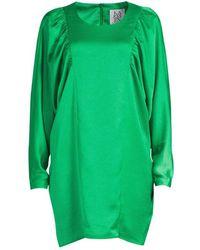 Zoe Karssen Sleeve Short Dress Green