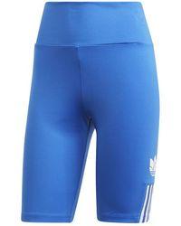 adidas Adicolor 3d Trefoil Short Tights Blue