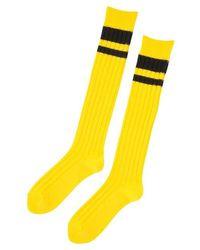 Onitsuka Tiger Middle Sock Yellow/performance Black