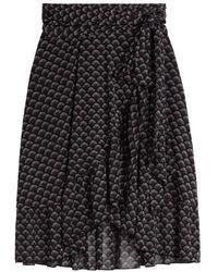 Sandwich Skirt Jersey Medium Black