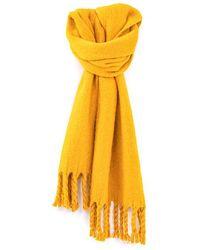 IKKS Absinthe Fluffy Fringed Scarf Saffron - Yellow