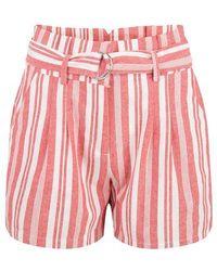EsQualo Short Cotton Stripe Red