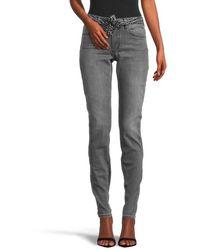 Marc O'polo Lulea Slim Jeans With Medium Rise Denim - Grey
