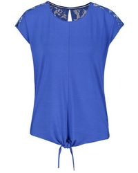 Gerry Weber Top With A Lace Trim Blue